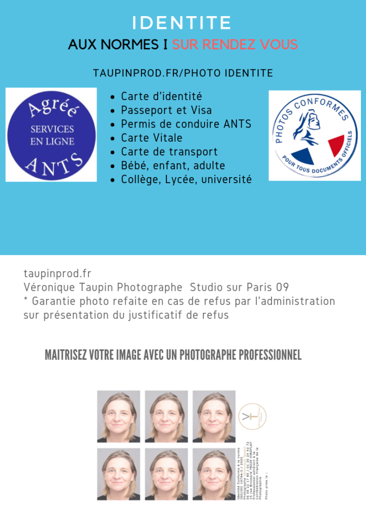 Photo carte d'identité, photo identité, photo visa, photo passeport aux normes ANTS